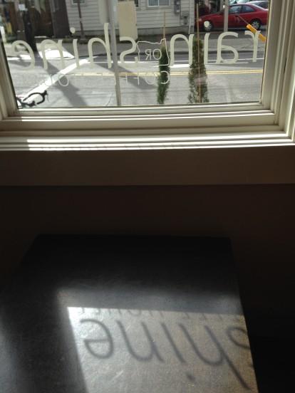 Rain or Shine Coffee House, Window