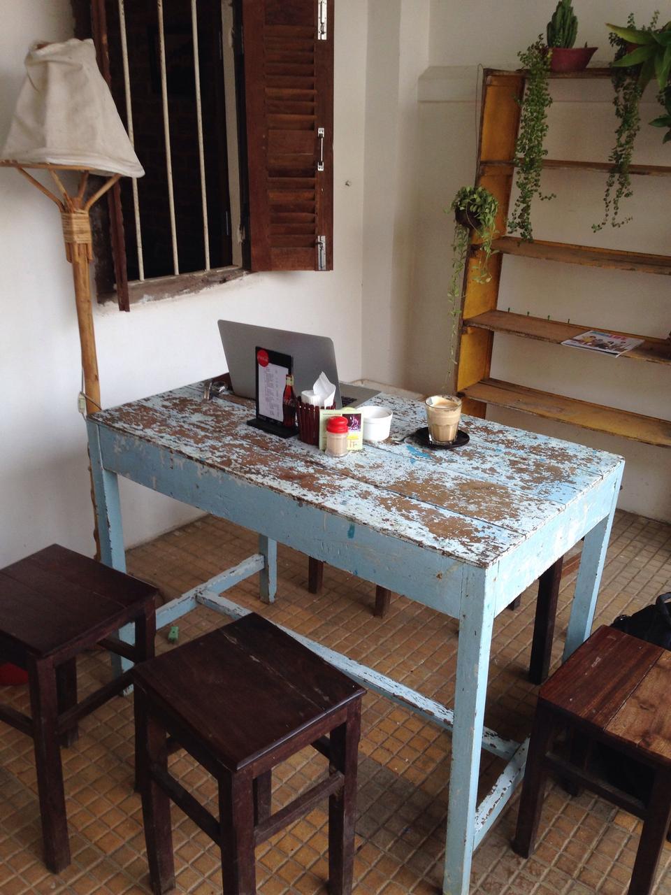 Kinyei Café in Battambang (បាត់ដំបង)