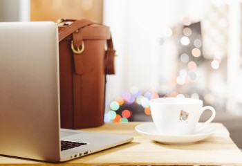 Stock Photo of a Laptop and Bag