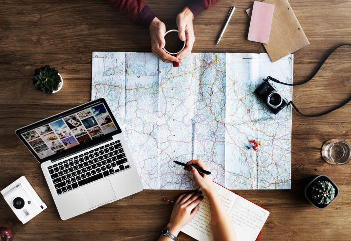 Map and Laptop: Best Tools for Staying Productive When You Work Abroad