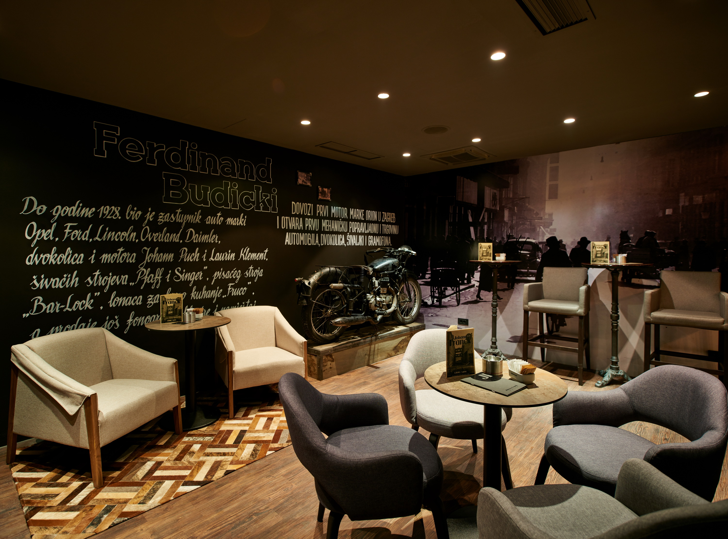 Furniture Design App Johann Franck Coffee Lounge Bar And Restaurant In Zagreb