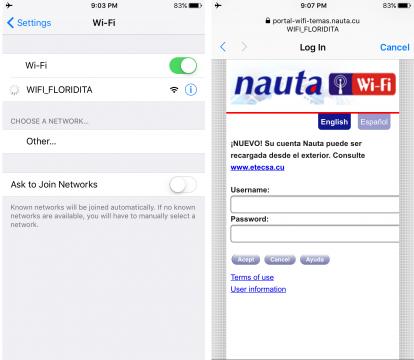 El Floridita Wifi network